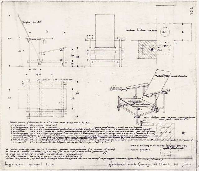 planos originales de Rietveld